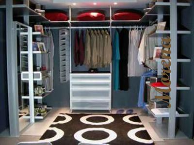 Дизайн гардеробной комнаты.