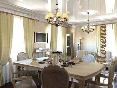 Дизайн столовой комнаты.