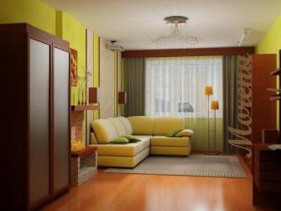 Интерьер гостиной комнаты.