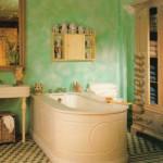 Деревенская простота ванной комнаты.