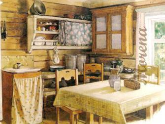 Деревня в доме.
