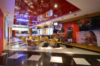 Дизайн интерьера спорт-кафе