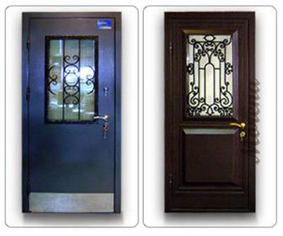 Художественные металлические двери с ковкой