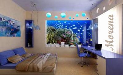 Идеи оформления стен в спальне.