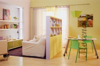 Как разделить небольшую комнату на зоны