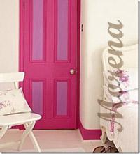 Оригинальный цветовой акцент межкомнатных дверей.