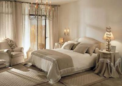 Романтика в спальном интерьере