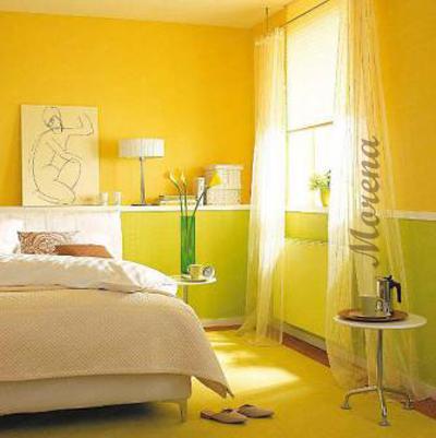 Желтый цвет в интерьере вашей спальни