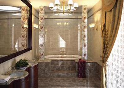 Зимний декор в ванной