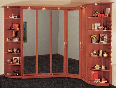 Встроенные шкафы-купе угловые – оптимально для быта