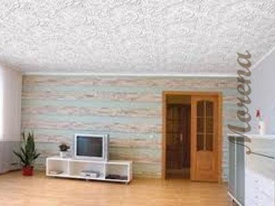 Оклейка потолков бумажными обоями