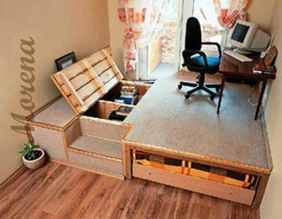 Подиум в квартире — возможности конструкции