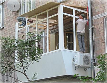 Основные виды балконных работ