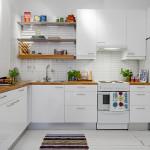 гостиная объединенная с кухней под скандинавский стиль