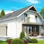 Дом с двускатной крышей - красиво и недорого