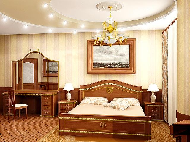 Занимаемся дизайном потолка в спальне